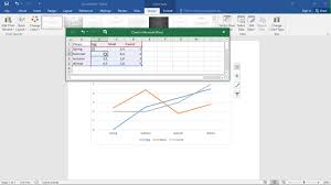 How To Make A Graph Chart In Word How To Make Line Graphs In Word 2016