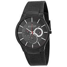 skagen mens quartz black dial titanium mesh watch 809xltbb skagen mens quartz black dial titanium mesh watch 809xltbb