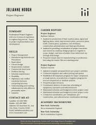 Professional Engineer Resume Samples Project Engineer Resume Example