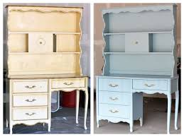 compare old and new chalk painted furniture