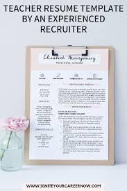 Teacher Resume Template Cv Template Cv Design Educator Resume