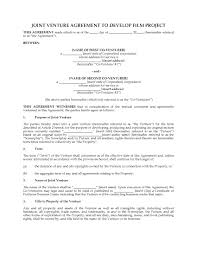 Film Project Joint Venture Agreement | Legal Forms and Business ...