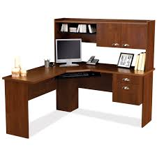 exciting design ideas of simple computer desk plans with l shape curve brown wooden also combine chic corner office desk