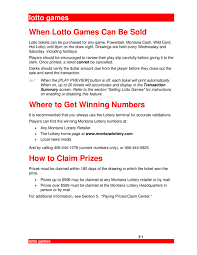 3 Mt User Games July06 By Montana Lottery Issuu