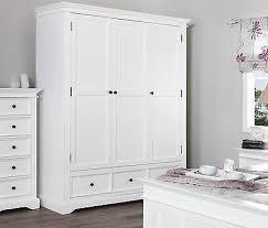 gainsborough triple wardrobe quality white 3 door wardrobe with shelves drawers
