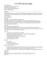 Loan Officer Sample Resume