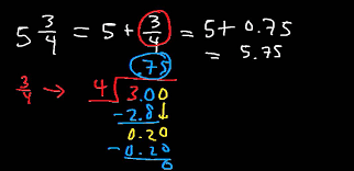 how to convert a mixed number into a decimal