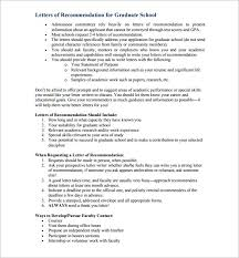 Writing A Letter Of Recommendation For Graduate School For Letters