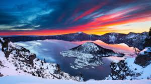 Windows 10 Winter Theme Crater Lake Theme For Windows 10 8 7
