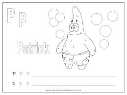 SpongeBob Alphabet Worksheets - Uppercase and Lowercase