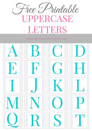 Printable Letter Templates Free Printable Alphabet Letters A To Z