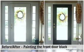 Image Painting Painting The Front Door Black Alamy Painting The Inside Of The Front Door Black