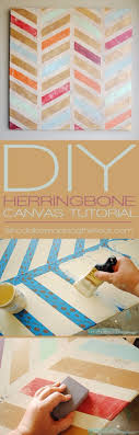 DIY Wall Art Ideas and Do It Yourself Wall Decor for Living Room, Bedroom,  Bathroom, Teen Rooms | DIY Herringbone Canvas Art | Cheap Ideas for Those  On A ...