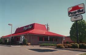 pizza hut building. Contemporary Hut You Know The Signs Rectangular Building Square Or Trapezoidal Windows  A Bright Red Roof Hanging Out Over Edges Then Sloping Up Into Peak That  With Pizza Hut Building