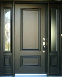 black front door entry doors with side panels windows exterior house oval glass