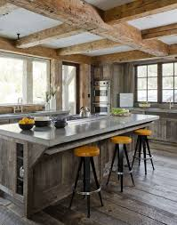 Industrial Rustic Kitchen With Wood Accents