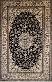 large persian hand knotted nain rug in wool silk ref 570 3 12m x 2 00m
