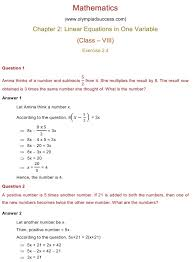 chapter 2 linear equations in one variable exercise 2 4