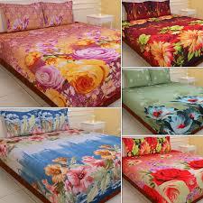luxury queen 5 extra soft 3d print double bedsheets 5bs1