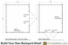 shed floor plans. 12x10 Backyard Storage Shed Floor Plans D