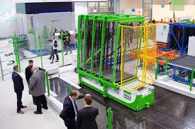 with the automated guided vehicle agv glass transport is automated between individual stations
