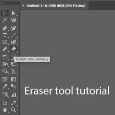 Eraser Tool In Illustrator Tutorial How To