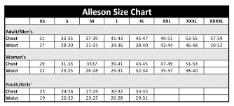 Alleson Cheer Size Chart Alleson Athletic Size Chart Basketball Cheerleader Galllery