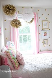 decoration for girls bedroom. Bedroom Ideas Girls Room Pink White Gold Decor, Ideas, Painted Furniture, Reupholster Decoration For