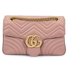 gucci marmont leather shoulder bag in dusty pink 0