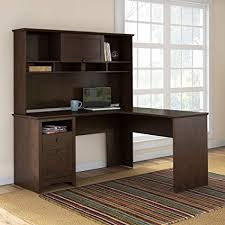 l shaped desk with hutch. Contemporary Hutch Bush Furniture Buena Vista L Shaped Desk With Hutch In Madison Cherry And With S