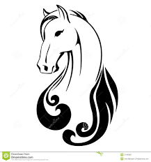 tribal horse head silhouette. Beautiful Silhouette On Tribal Horse Head Silhouette T