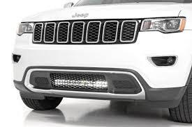 Bumper Light Bar Rough Country 20in Led Light Bar With Bumper Mount Kit For 11 19 Jeep Grand Cherokee Wk2