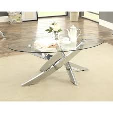 modern glass top coffee table furniture of propel modern glass top chrome oval coffee table coaster