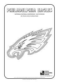 cool coloring pages nfl american football clubs logos national football conference east division