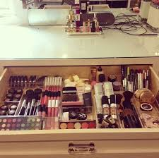 DIY makeup organizer. This is what my draw should look like.