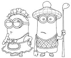 Cute Minions Coloring Pages For Kids Minion A Fireman 20 Minion