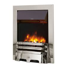 celsi accent traditional chrome 16 inset electric fire