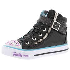 Skechers Kids Twinkle Toes Heart And Sole Light Up Sneaker Skechers Girls Twinkle Toes Shuffles Heart N Sole Light