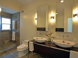unusual bathroom lighting. Fascinating Light Fixtures For Bathroom Long Tube Shape Up On Table And Between Mirror Unusual Lighting G