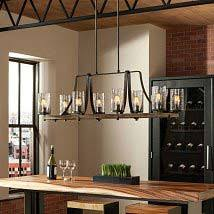 pendant lighting for kitchen. Distressed Weathered Oak And Slated Grey Metal Eight-Light Island Pendant Pendant Lighting For Kitchen I