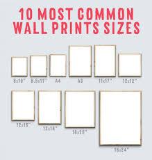 common frame sizes framess co