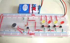 simple musical leds circuit diagram music operated dancing leds