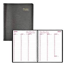 2020 Weekly Appointment Book Brownline 2020 Weekly Appointment Book Twin Wire With Soft Black Cover English 11 X 8 1 2 Cb950 Blk 2020