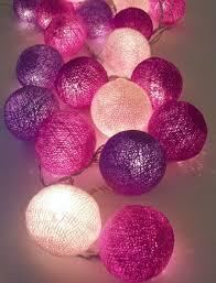 ball fairy lights. cotton ball fairy lights e