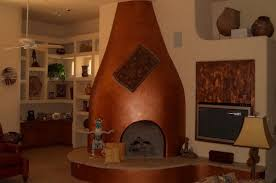 kiva fireplace southwestern design