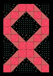 free quilt pattern: Contrary Wife Quilt block & pink ribbon quilt pattern Adamdwight.com
