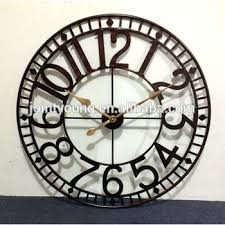 mosaic wall clock for large outdoor clocks at metal street attractive in slate indoor