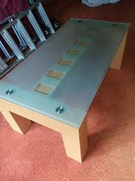 glass wood coffee table solid