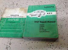 mr repair manual 1987 toyota mr2 service repair shop manual set w electrical wiring diagram oem