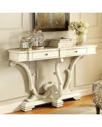 antique white sofa table. French Sanctuary Design Antique White Accent Console Table (Antique White) Antique White Sofa Table Better Homes And Gardens